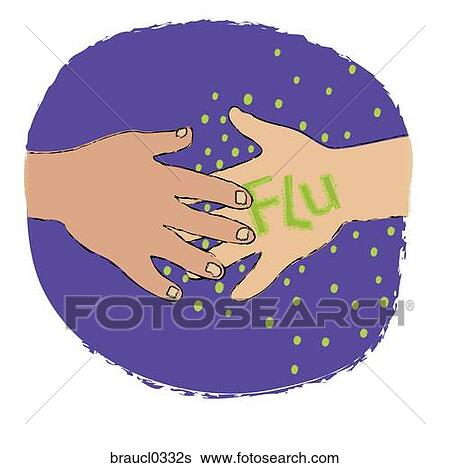 Passing on Flu Germs braucl0332s - Search Clip Art, Drawings, Fine Art ...