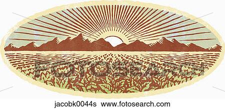 Stock Illustration of Farm Field jacobk0044s - Search Clip ...