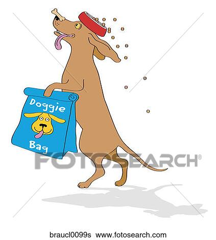 Stock Images of dachshund with doggie bag balancing dog ...