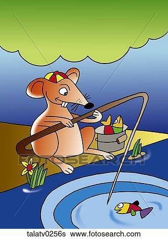 创意设计图片在线 - 老鼠, 钓鱼, 带, 尾巴 talatvs图片