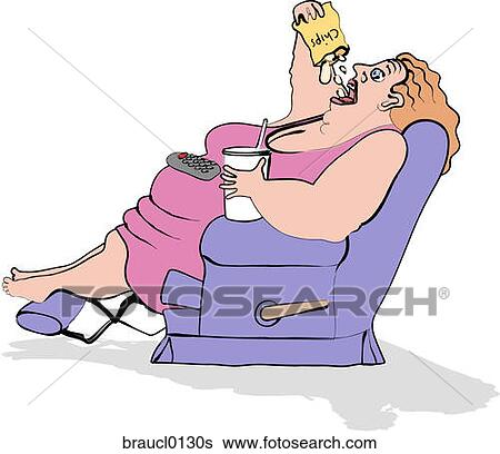 Eating Junk Foods Drawing Couch Potato Eating Junk Food