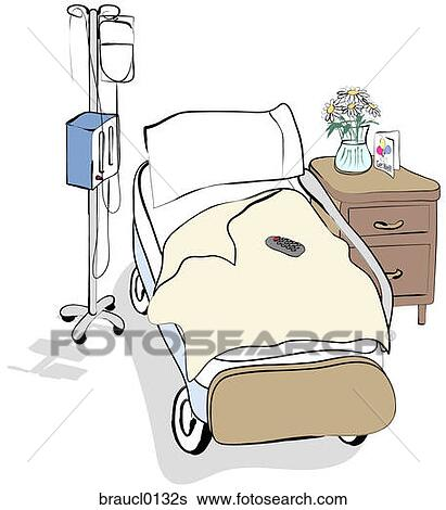 Stock Illustration of Hospital Bed braucl0132s - Search ...