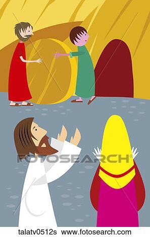 Stock illustration of jesus brings lazarus back to life for Jesus brings lazarus back to life coloring page