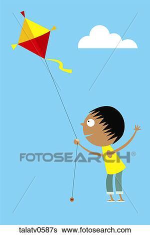 flying kite illustration - photo #6