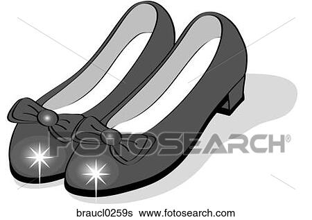 Ruby Slippers View Large IllustrationRuby Slippers Vector