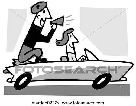 Backseat Driver Clip Art
