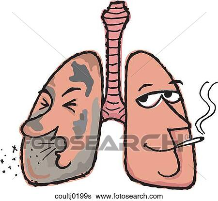 Stock Illustration of Smoker's Lung coultj0199s - Search Clip Art ...