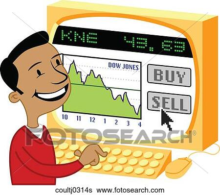 Stock Illustration of Online Stock Trade coultj0314s - Search Clip ...