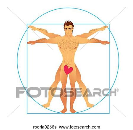Stock Illustration of Vitruvian Man rodria0256s - Search Clip Art ...