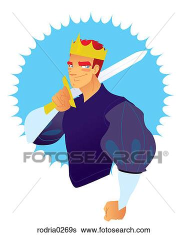 Stock Illustration of Prince Charming rodria0269s - Search Clip ...