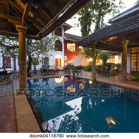Stock Photography Of Courtyard With Swimming Pool Luxury Boutique Hotel Malabar House Fort