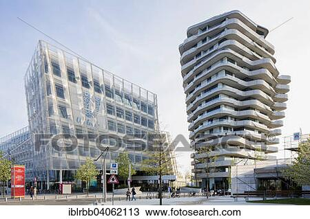 Marco Polo Tower Hamburg stock photo of unilever haus office building and residential marco