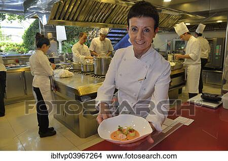 Stock Photo of Star chef Carmen Ruscalleda, three Michelin stars ...