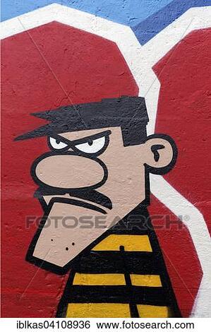 Graffiti Duisburg stock images of bandit dalton convict lucky luke