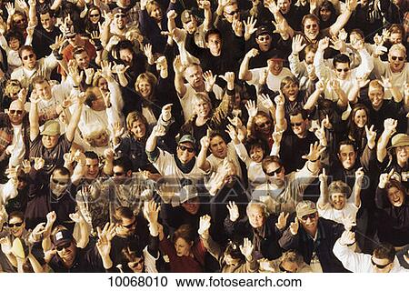 Stock photography of crowd busy congregation congested for Audience wall mural