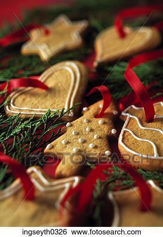 stock bilder weihnachten kekse festlicher pl tzchen. Black Bedroom Furniture Sets. Home Design Ideas