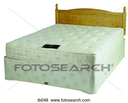 Pictures Of Photograph Of A Double Divan Bed With Mattress And Headboard Without Bedclothes