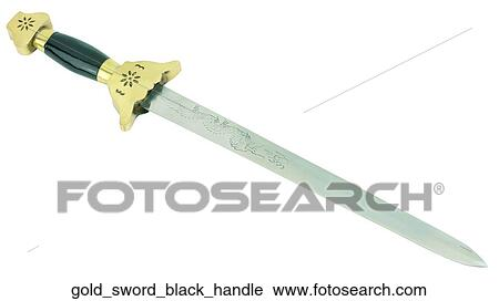Stock Photography of Gold Sword black handle gold_sword ...