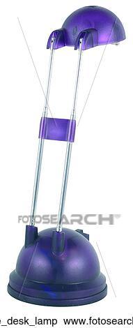 stock image of purple desk lamp purple