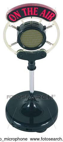 Stock Photography of Radio microphone radio_microphone ...