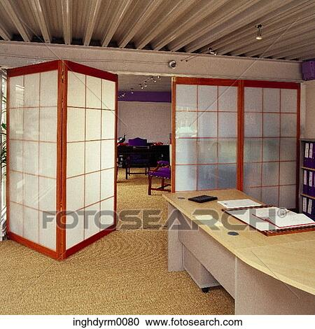 Stock photography of an office with opaque screen partitions inghdyrm0080 search stock photos - Opaque room divider ...