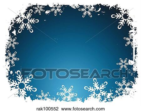 Clip Art of Snowflake border rak100552 - Search Clipart ...