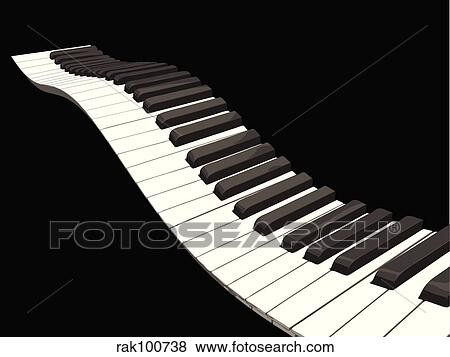 Stock Illustration of wavy piano keys rak100738 - Search ...