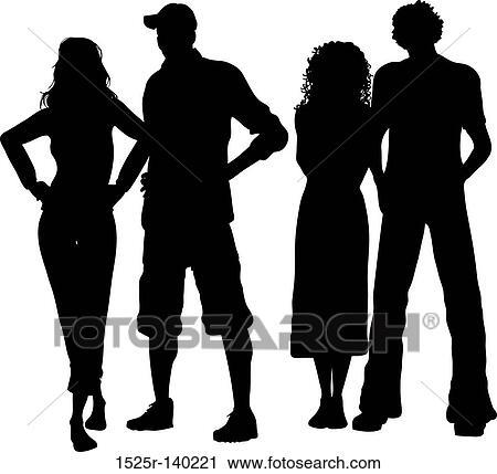 Group friends Stock Illustrations. 15,408 group friends clip art ...