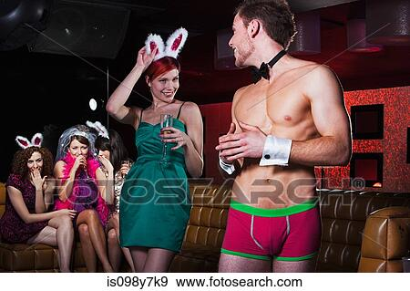 Women out of Control at a British Male Strip Party.