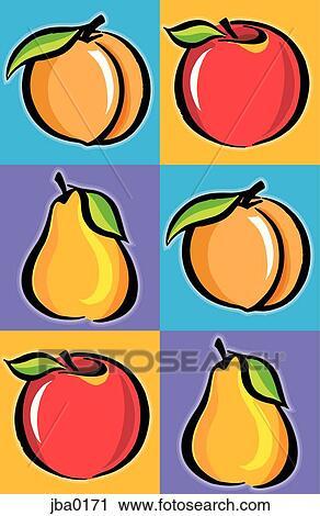 Clipart frutta mosaico jba0171 cerca clipart for Clipart frutta