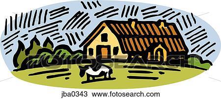 Disegno mucca a il fattoria jba0343 cerca clipart for Stampe di fattoria gratis