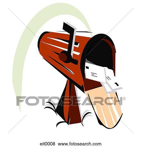 stock illustration briefkasten eit0008 suche clip art zeichnungen illustrationen. Black Bedroom Furniture Sets. Home Design Ideas