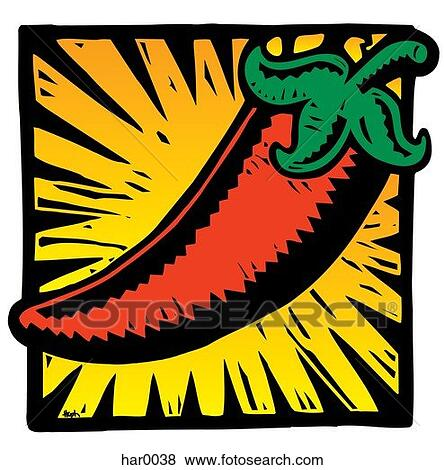 Hot pepper Clipart and Stock Illustrations. 1,435 hot pepper ...