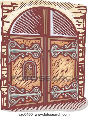 Castle gate  sc 1 st  Fotosearch & Stock Illustrations of castle gate szo0460 - Search Clipart ...