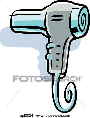 Drawings of Cartoon drawing of a blow dryer apl0024 - Search Clip ...