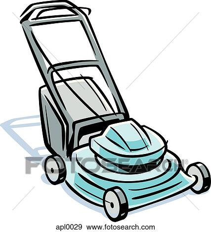 Lawn Mower Drawings an Illustration of a Lawn