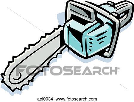 Dessins dessin de a tron onneuse apl0034 recherche de clip arts d 39 illustrations et d - Coloriage tronconneuse ...
