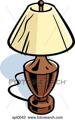 Clip art of drawing of a table lamp apl0042 search clipart clip art drawing of a table lamp fotosearch search clipart illustration posters mozeypictures Image collections