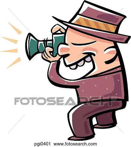 Clipart of Drawing of a man taking pictures pgi0401 - Search Clip ...