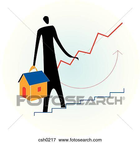 Archivio illustrazioni salita casa prezzi csh0217 for Log casa disegni e prezzi