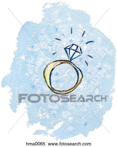 stock illustration ein verlobungsring gezeichnet auf blauer hintergrund hma0065 suche. Black Bedroom Furniture Sets. Home Design Ideas