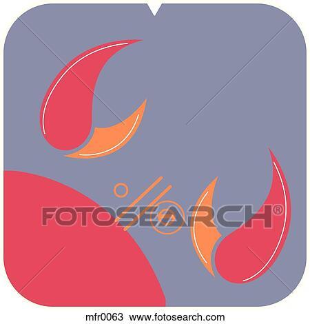 zeichnung krebs symbol mfr0063 suche clipart illustration. Black Bedroom Furniture Sets. Home Design Ideas