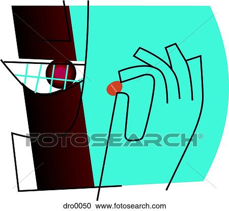 Stock Illustrations of Outline of a person with stained ...