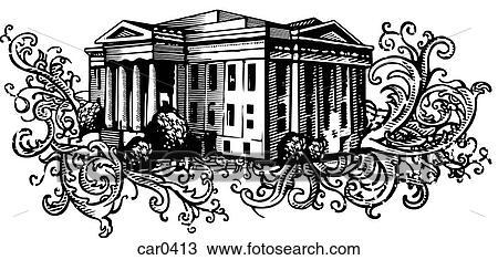 手绘图 - 老, 银行, 建筑物