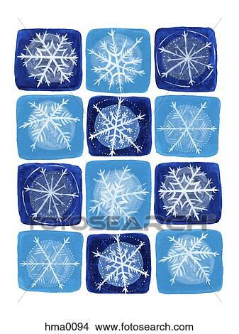 zeichnungen schneeflocken auf a blau wei hintergrund hma0094 suche clip art. Black Bedroom Furniture Sets. Home Design Ideas