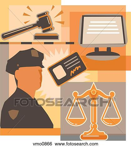 Stock Illustration Of Collage Of A Computer Screen A