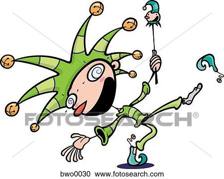 Stock Illustrations of An April Fools court jester bwo0030 ...