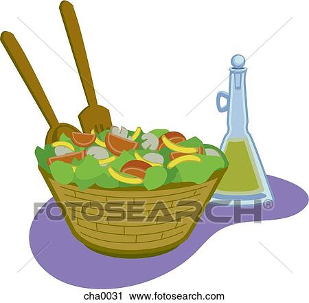 Caesar Salad Drawing Salad And Dressing