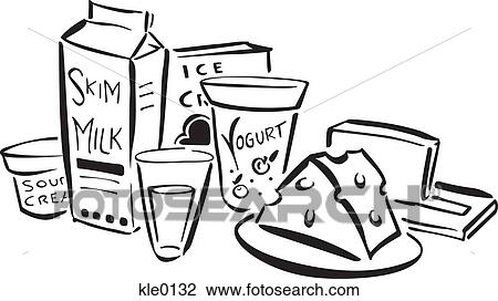 clip art of dairy products kle0132 search clipart illustration rh fotosearch com clipart dairy products diary clipart