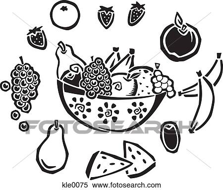 Fruit Bowl Line Drawing a Bowl of Fruit
